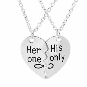 Jewelry - 2pc Her One His Only Couple Necklace